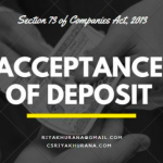 Acceptance of deposit from Members -In the case of Private Limited Company