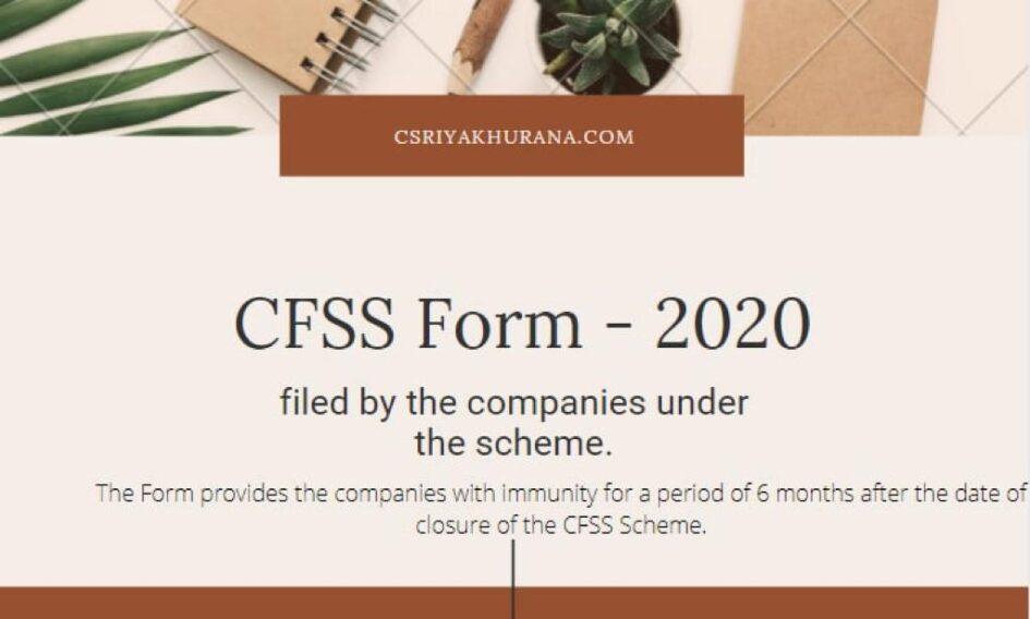 Cs Riya Khurana - CFSS Form 2020