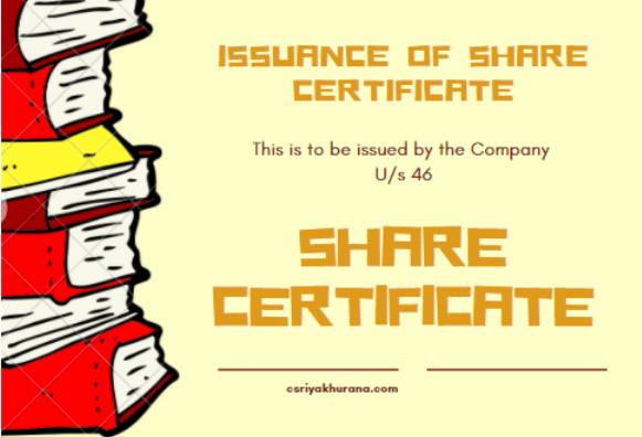 Issuance of Physical Share Certificate- Cs Riya Khurana