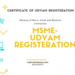 MSME REGISTERATION-(UDYAM REGISTERATION)