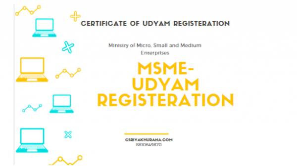 MSME REGISTERATION-(UDYAM REGISTERATION)- Cs Riya Khurana
