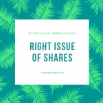 RIGHT ISSUE OF SHARES -Section-62